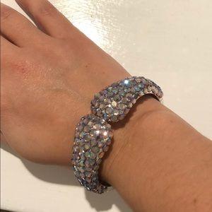 Custom swarovski crystals purple bracelet
